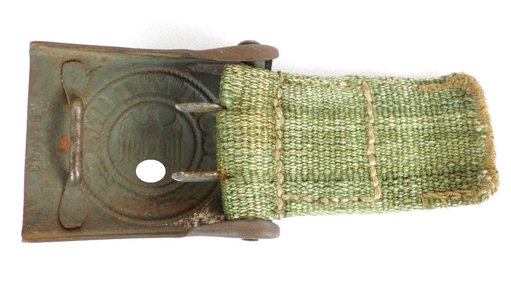 Heereskoppelschloss aus stahl wiederhalt aus webmaterial for Nolte apothekerschrank korb